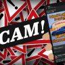 Scam, Verkehrsschilder, Smartphone