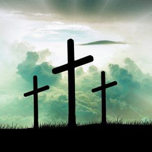 Kreuze auf einem Hügel