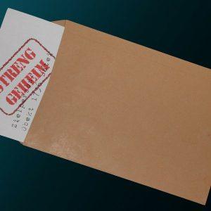 Briefumschlag, vertraulich, geheim, Unterlagen