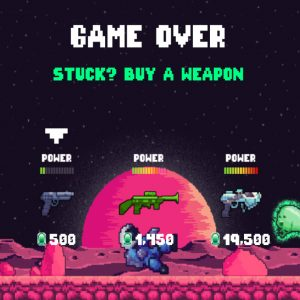 Videospiel Game Over