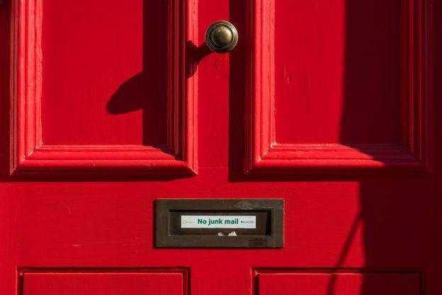 Haustuer Briefschlitz No junk mail