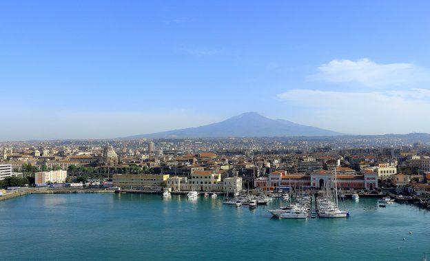 Catania Küste Meer Etna Vulkan