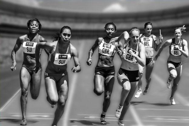Sportlerinnen Sprint Rennen