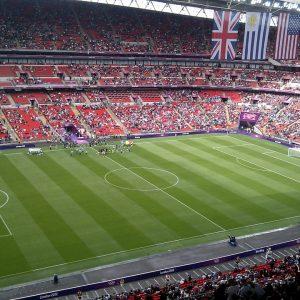 Wembley-Stadion Fans