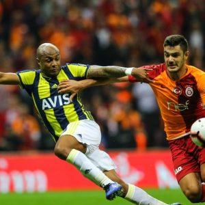 Spieler von Fenerbahçe und Galatasaray Fußball Süper Ligue