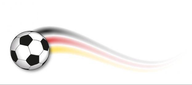 Ball mit Deutschlandflagge