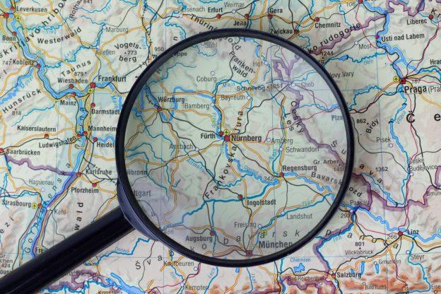 Nürnberg Landkarte Lupe