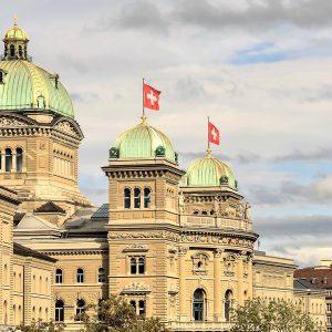 Bern Schweizer Flaggen