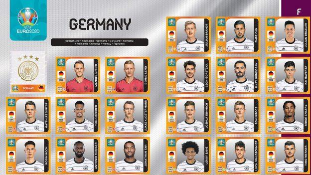 Panini-Sticker deutsche Mannschaft