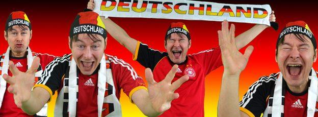 Schreiender Deutschland-Fan