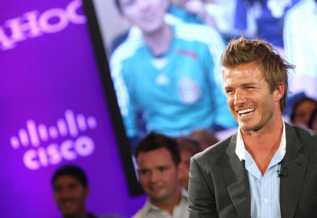 David Beckham bei Yahoo-Event