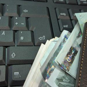 Tastatur, Geld, Portemonnaie