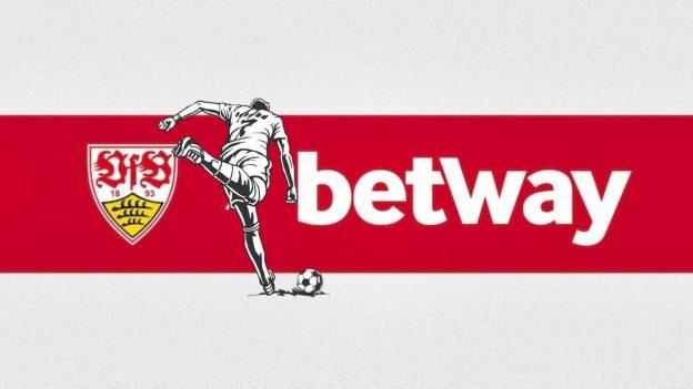 Logos VfB, Betway, Fußballer