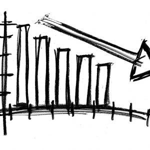 Diagramm, Pfeil nach unten