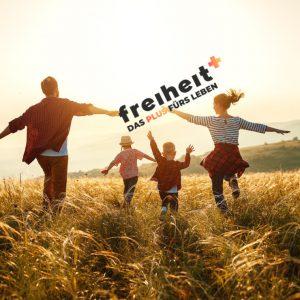 Logo freiheit+ Familie Feld Sonne