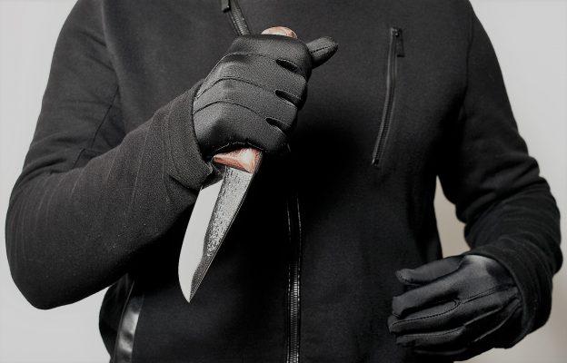 Mensch mit Messer