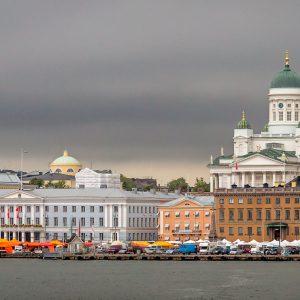 Finnland Helsinki Skyline Gebäude Küste Ufer