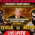 Live im Hard Rock Casino Resort: Trump kommentiert Boxkampf Holyfield vs. Belford