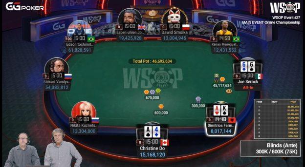 WSOP 2021 Online Pokertisch