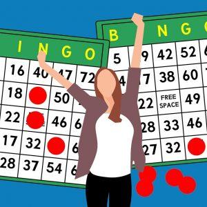 Bingo-Scheine, Frau