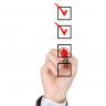 Checklist rote Häkchen Hand