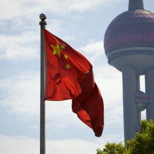 chinesische Flagge, Turm