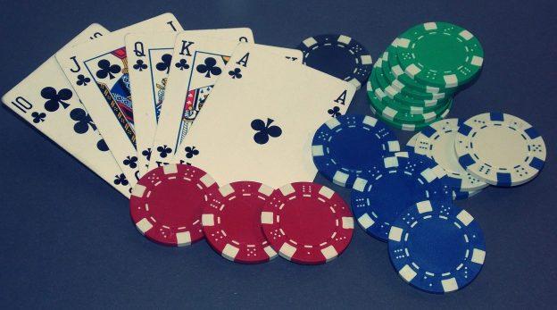Spielkarten Chips Royal Flush