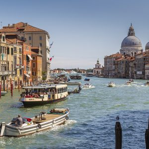 Venedig Canale Grande Gebäude Kanal Gondeln Boote